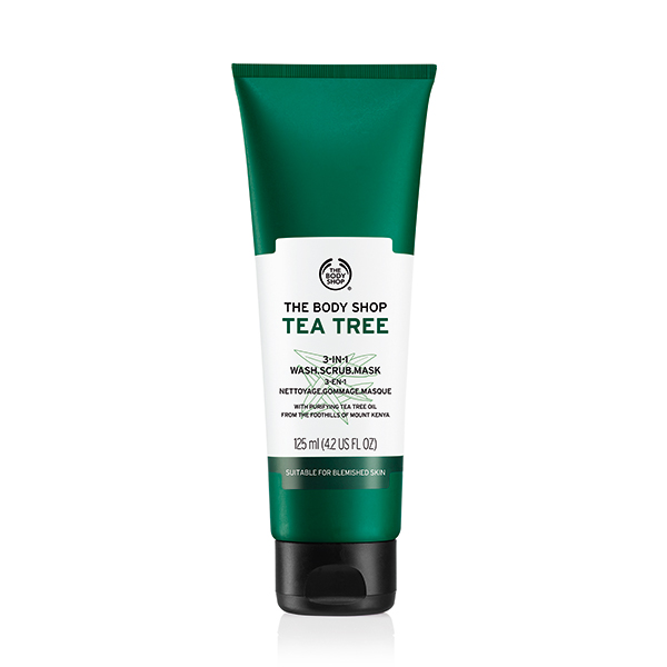 TEA TREE 3 IN 1 WASH SCRUB MASK
